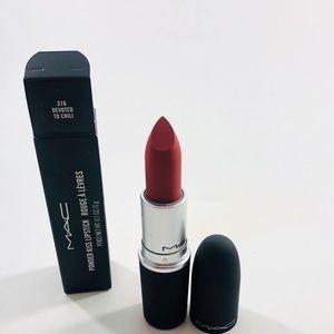 Mac Powder Kiss Lipstick 316 Devoted to Chili